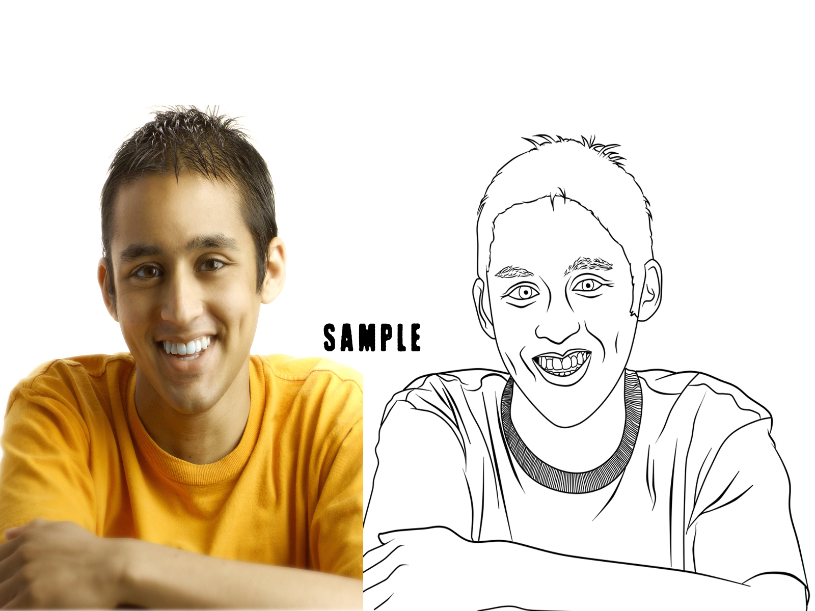 transform your photo into a detailed line art