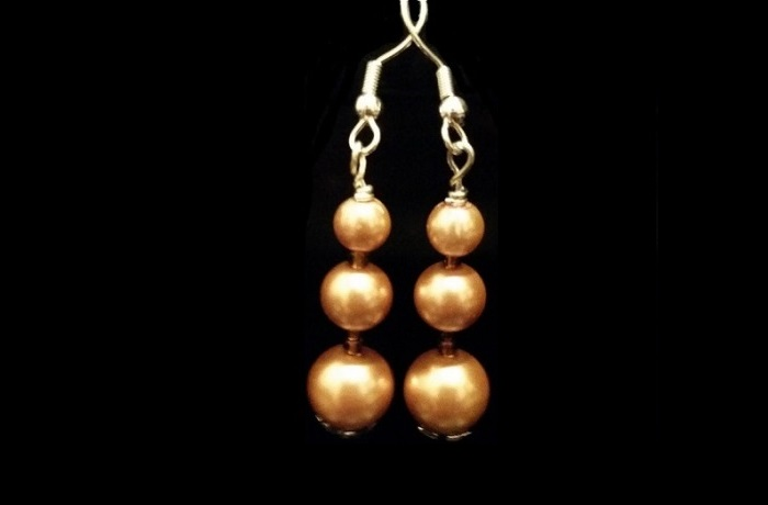 craft glass pearl earrings with choice of colors