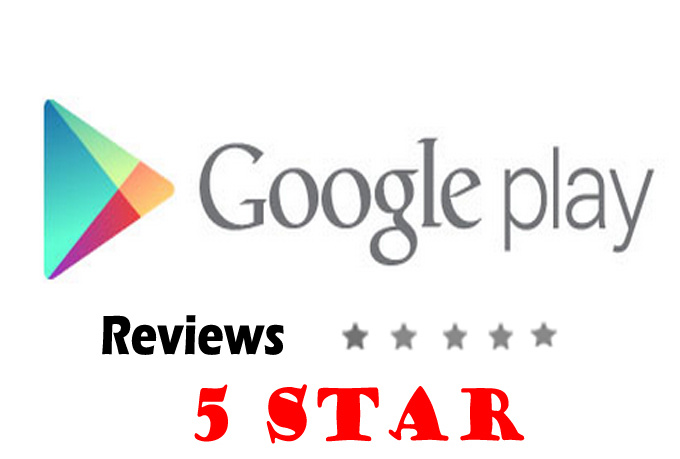 rate 5 star and make positive review on your app/game