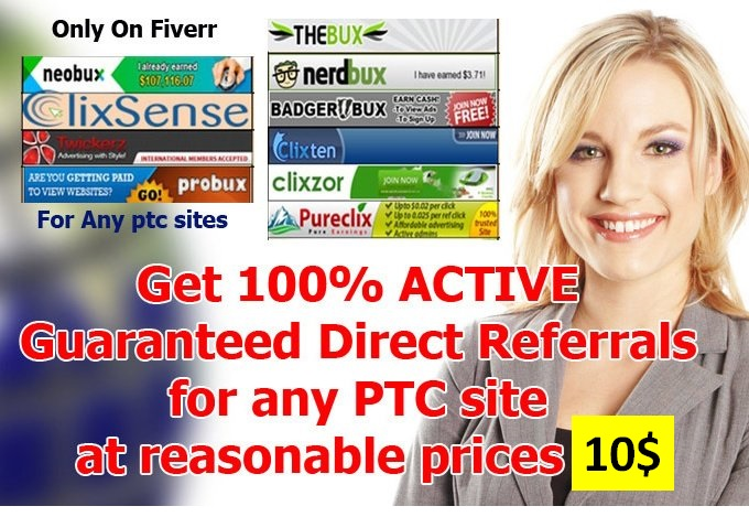 Send Unlimite DIRECT REFERRALS to any PTC