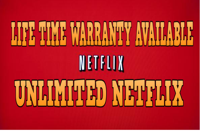 give you Premium Netflix account with Life Warranty