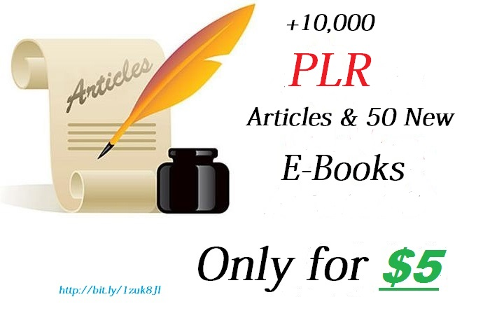 provide you 10,000 PLR articles and 50 new Ebooks for your business