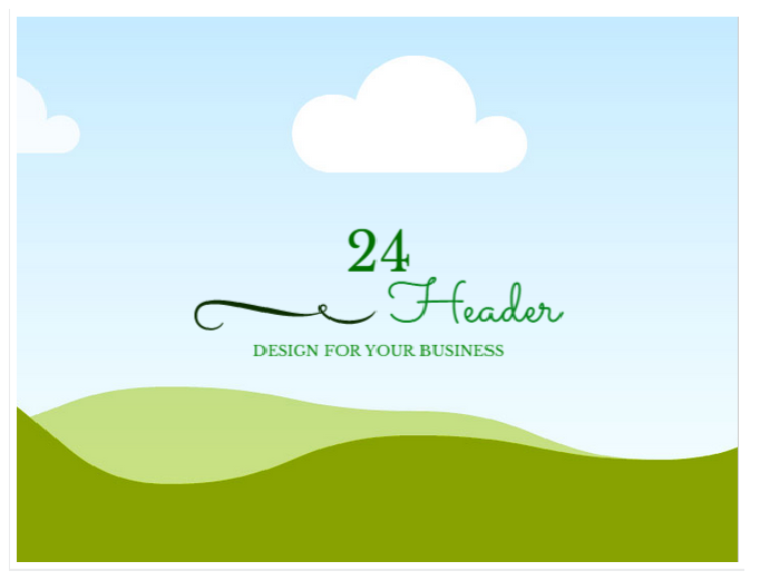 provide you 24 Header Graphics, Also bunch of free headers for your business
