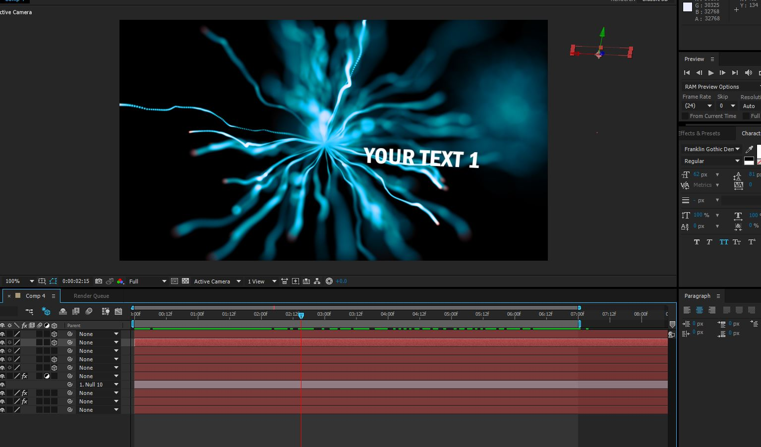 put your choice of text into this professional video intro