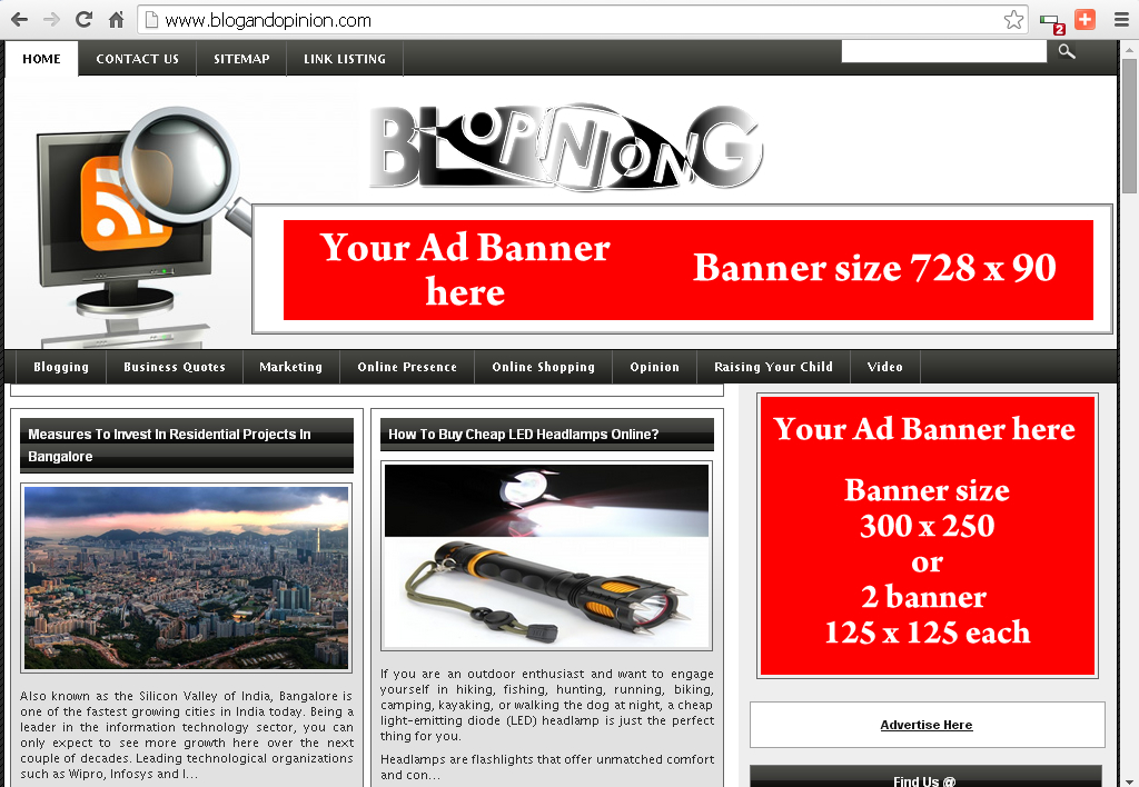 place your ad banner in my PR-2 Paid Article posting site for a month
