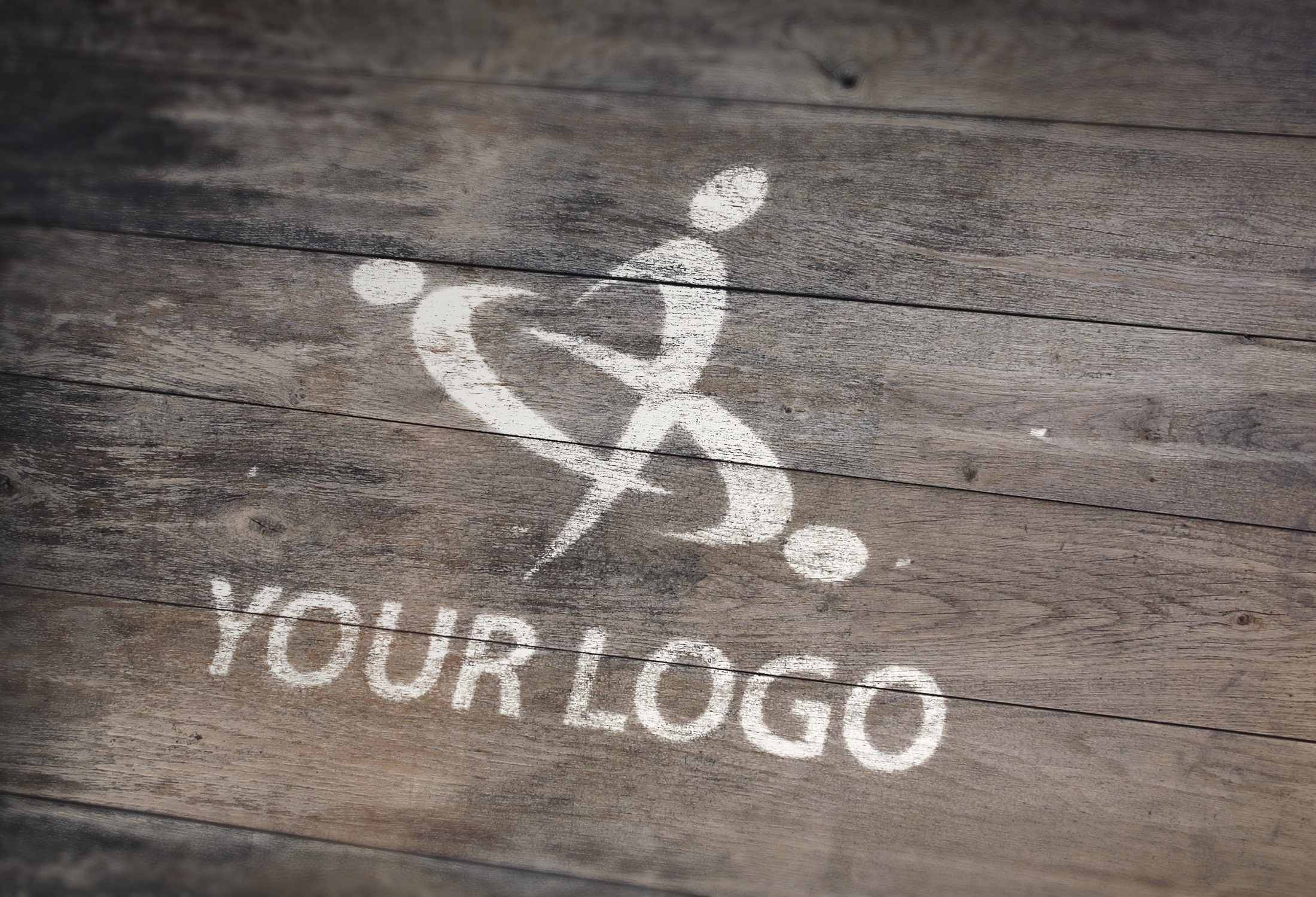 Paint your Logo or Text in this wood