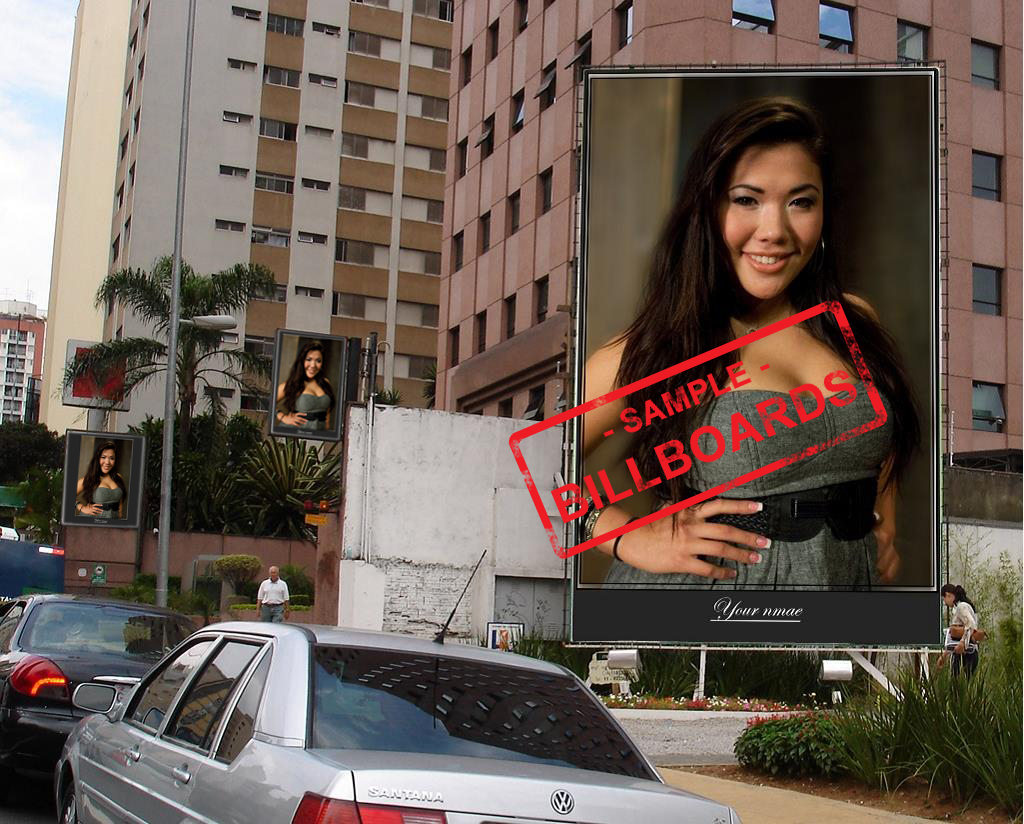 put your photos on 10 BILLBOARDS city posters