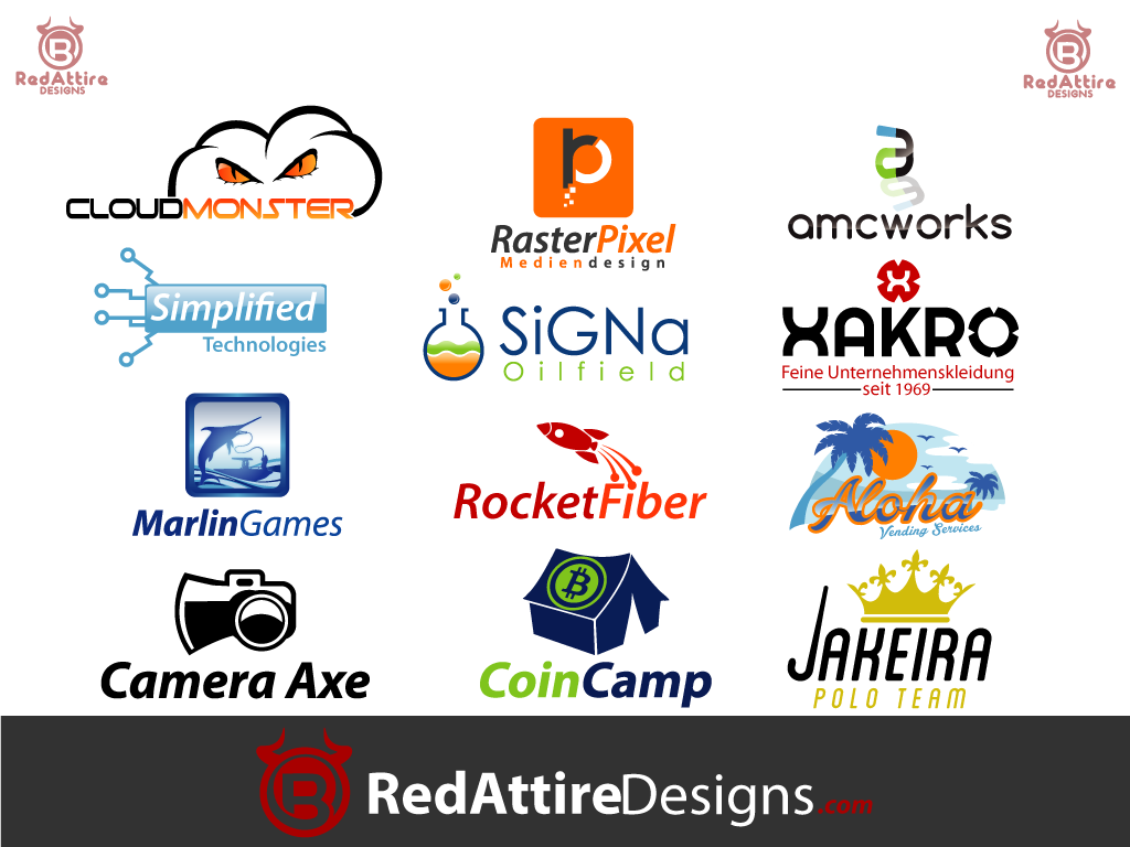 provide you with a custom professional logo from RedAttireDesigns