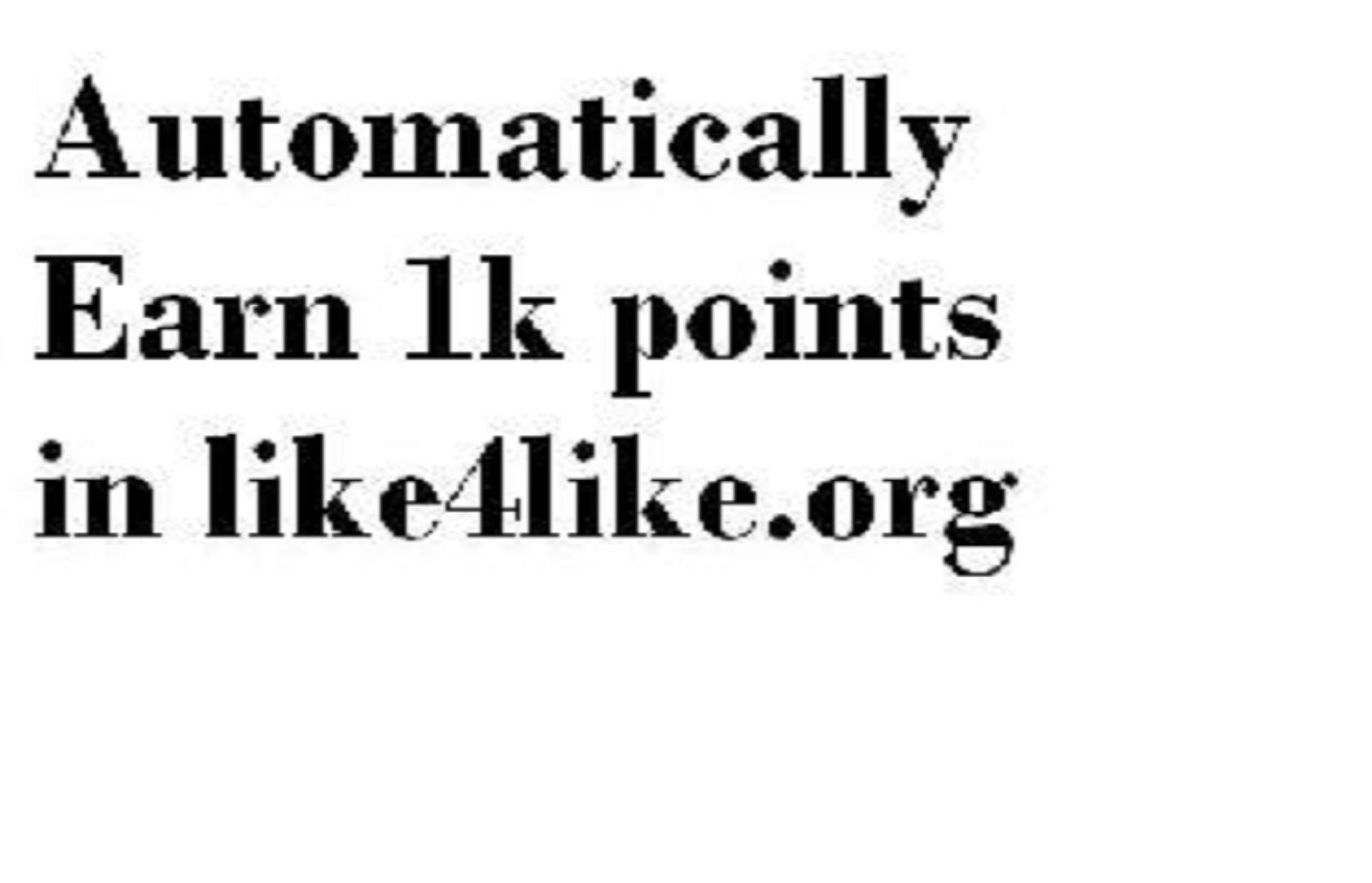Automatically Earn points in like4like.org software