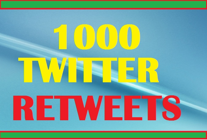 Add 1,000 different RETWEETS from Real Looking  and Genuine Twitter Accounts