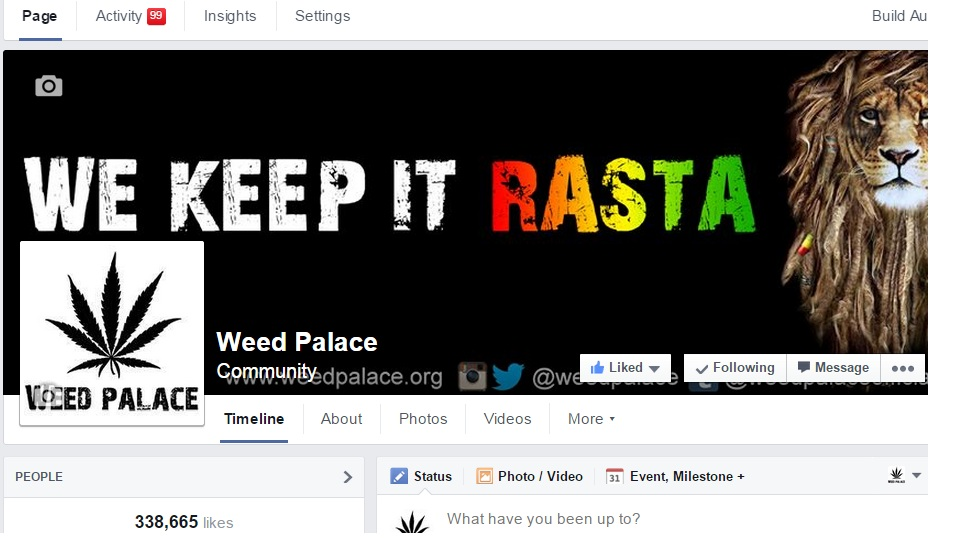 advertise your cannabis related business to 340K followers