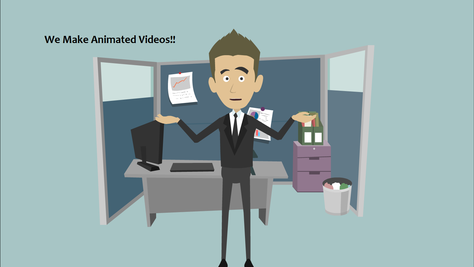 make you an animated test video