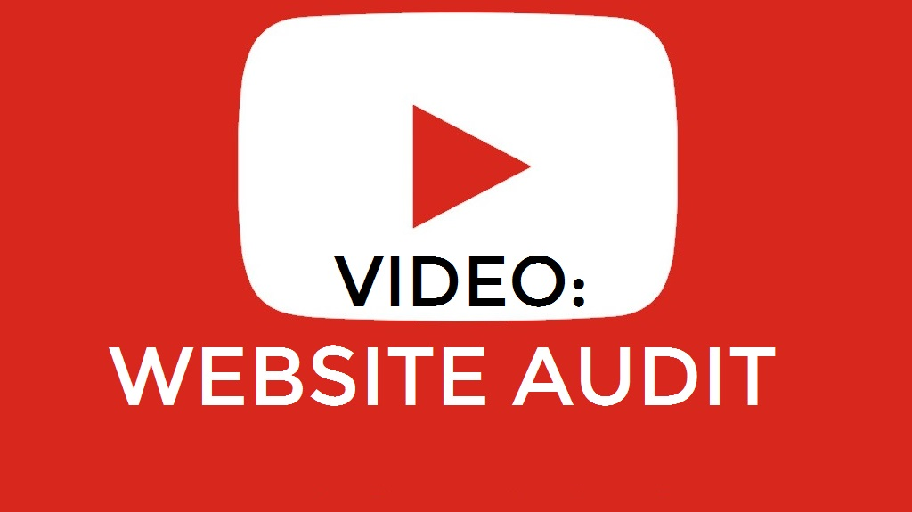 film a Video Audit of your website