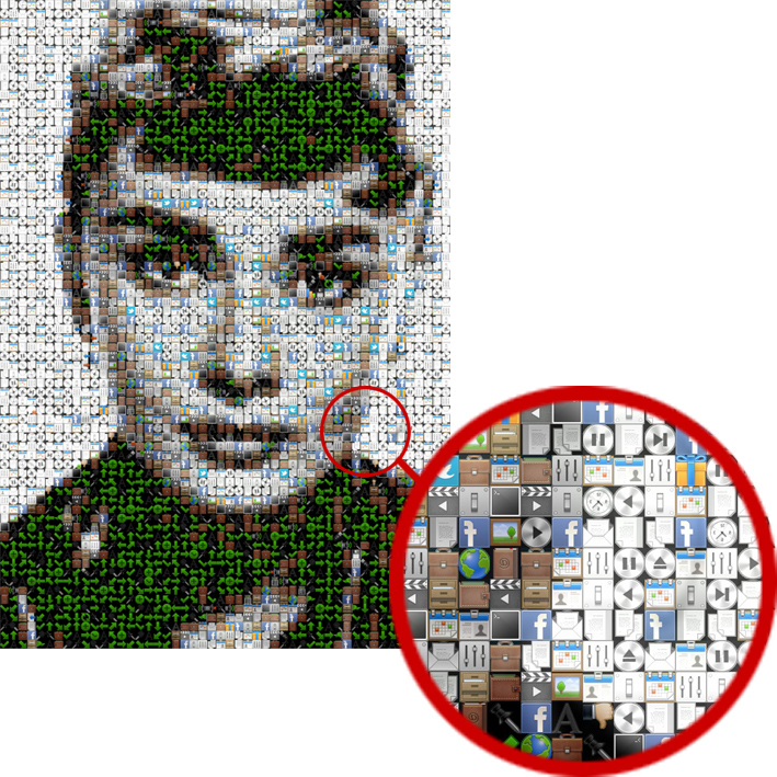 make mosaic from your photo or image