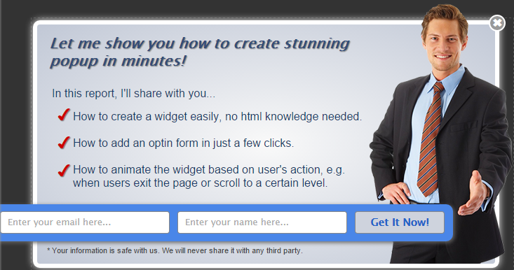 create an exit popup for your website to boost your optin rate