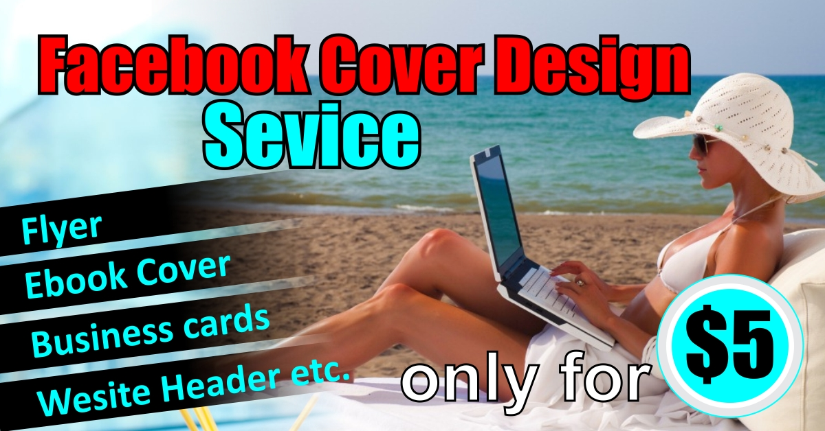 do an eye catchy Facebook cover within 24hrs