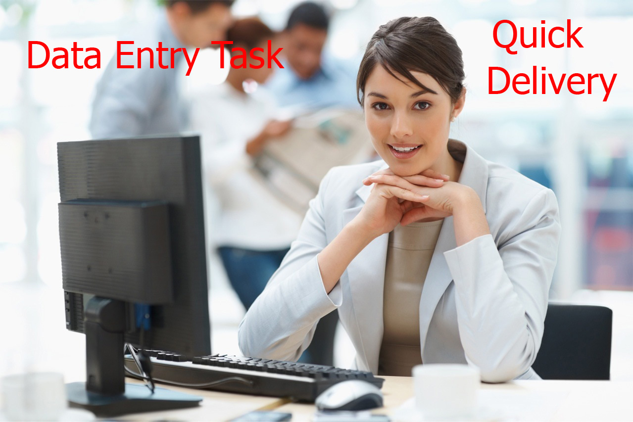 do any type of Data Entry