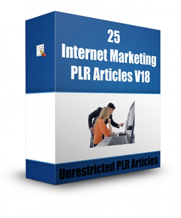 give 25 Internet Marketing PLR Articles