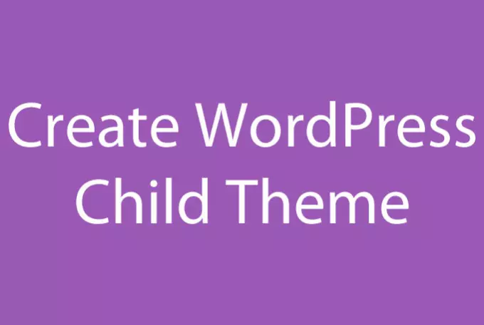 create a child theme for your wordpress theme