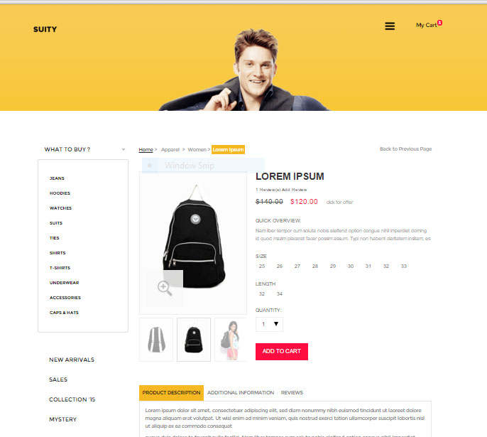 Configer Woocommerce theme