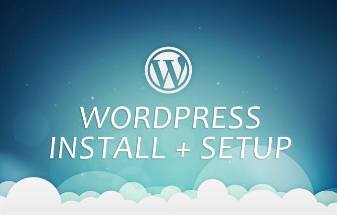 Install WordPress and will setup correctly
