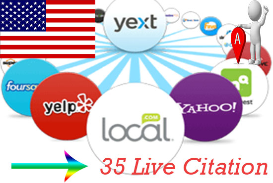 create 35 Live Citations for Business Listing