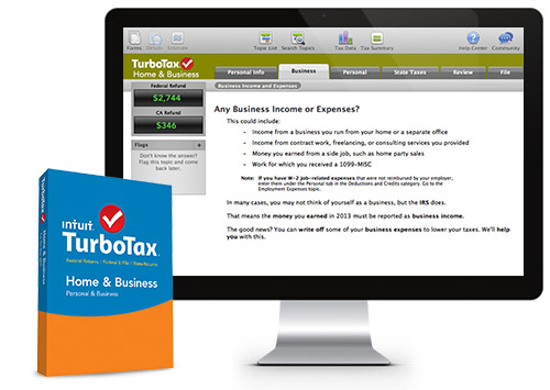 Give you Turbo Tax Home and business for any year