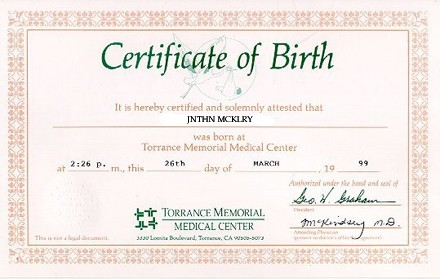 make fake any countries birth certificate