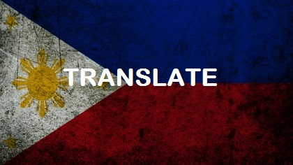 translate 100 english words to filipino