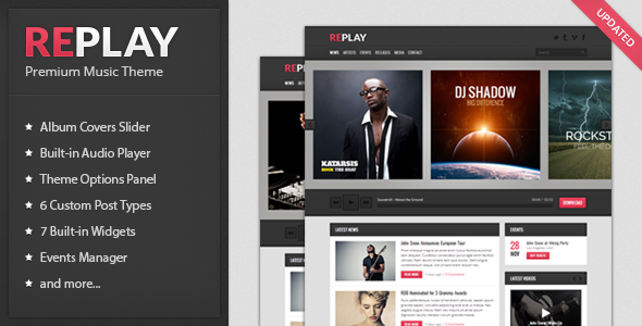 Replay WordPress Theme Free Download - Version 3.3