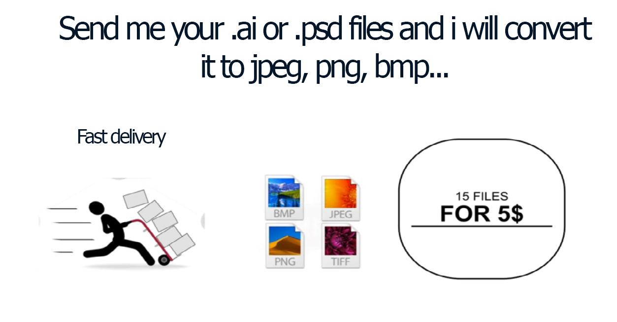 convert ai or psd files to jpeg, bmp,png,tiff