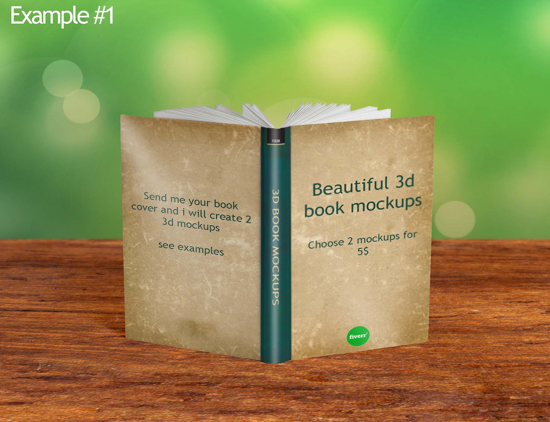 create beautiful 3d book mockup