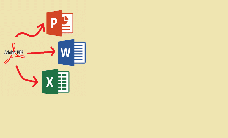 convert, type, format pdf to and from Microsoft office