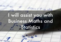 do your Statistics and Business Maths Homework