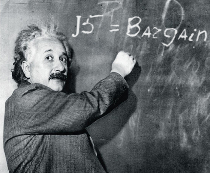 put any message, text, slogan on black board of Einstein.