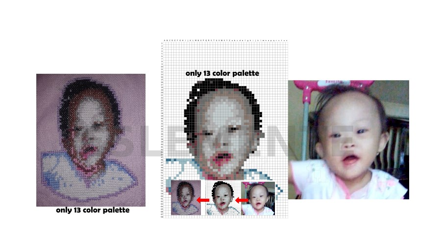 do pixelart on your photo for cross stitch or just vectoring