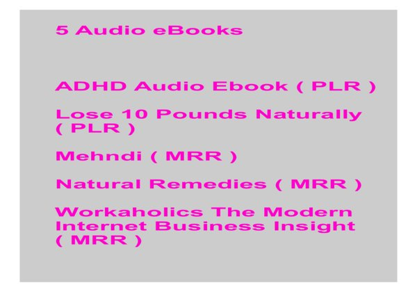 give 5 Audio eBooks