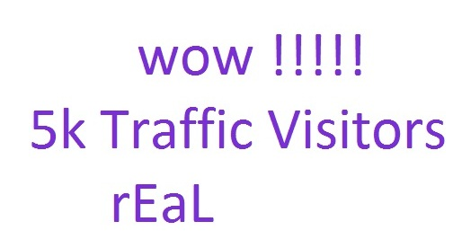 Send you 5k traffic