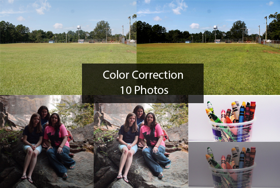 color correct 10 photos for you!