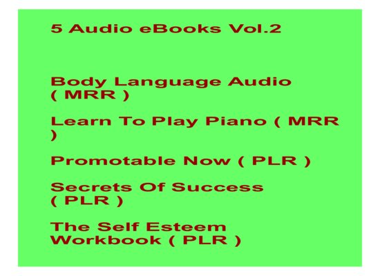 give 5 Audio eBooks Vol.2