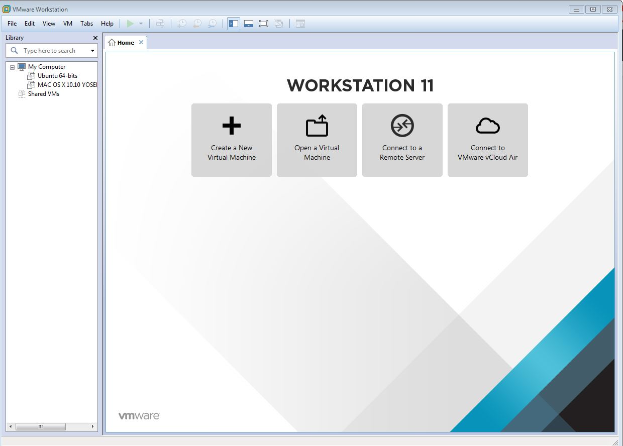 build a virtual machine (VM) in VMware workstation.