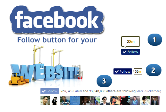 add Facebook Follow button for WordPress website