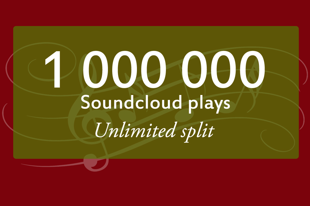 add 1000000 soundcloud plays