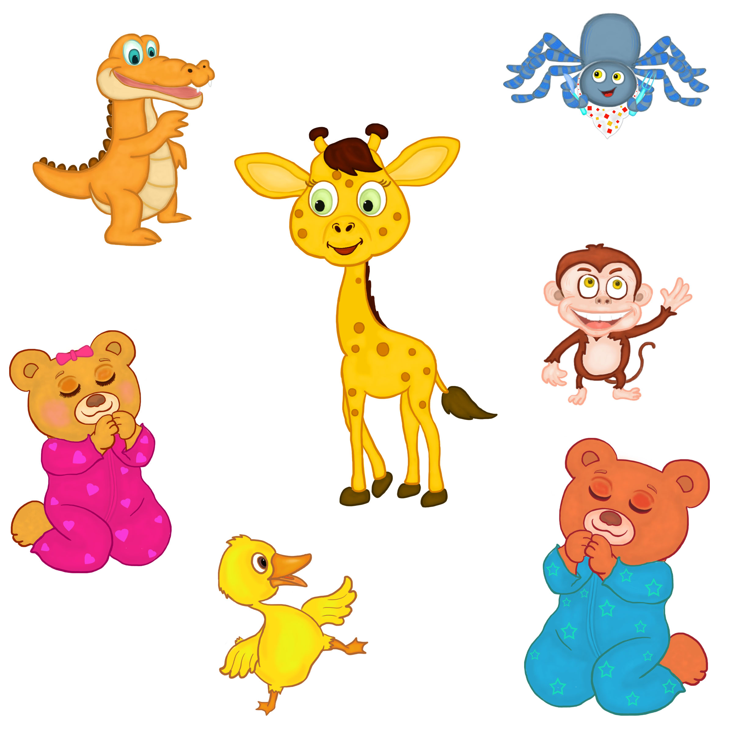 create a FULL COLORED CARTOON ANIMAL