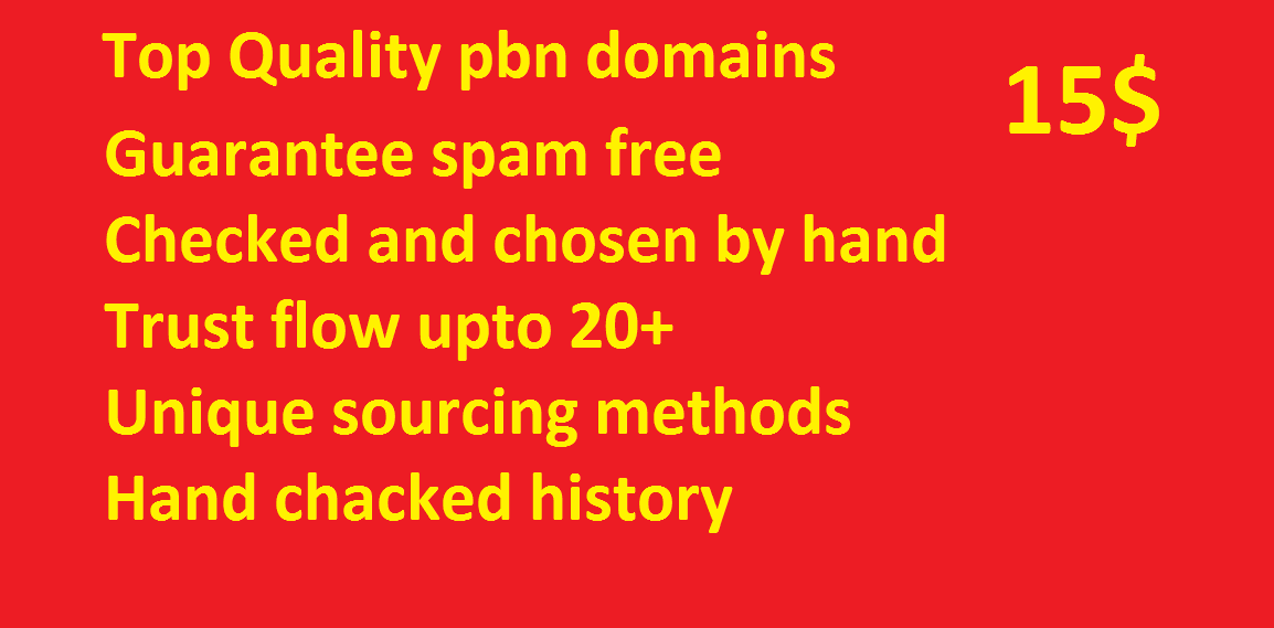 Trust flow 10 PBN Links for Instant Rankings for