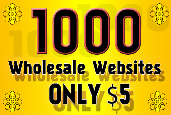 provide 1000 Wholesale websites