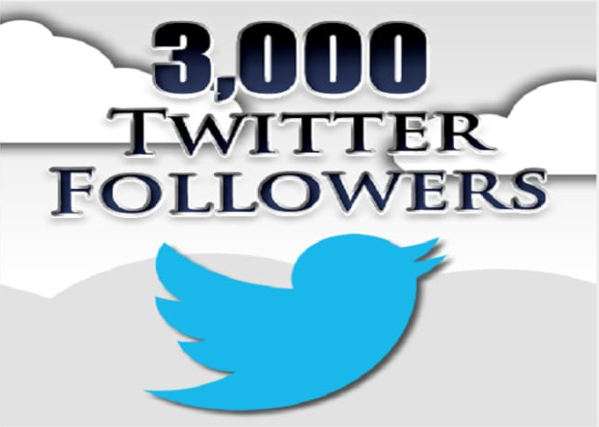 add 3000 real Twitter Followers