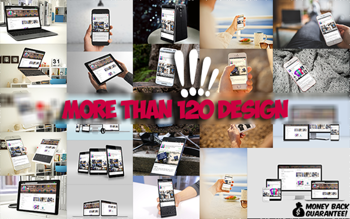 make 120 multi devices responsive website mockup