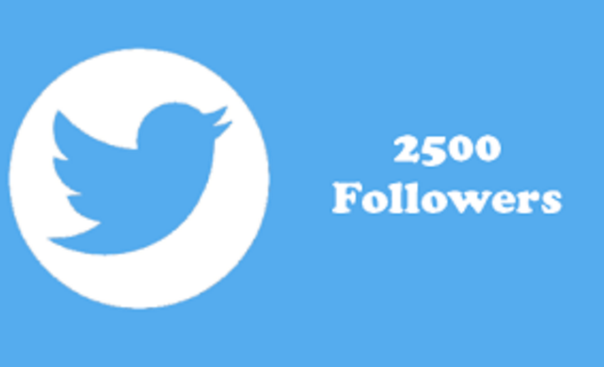 add 2500 real twitter Followers