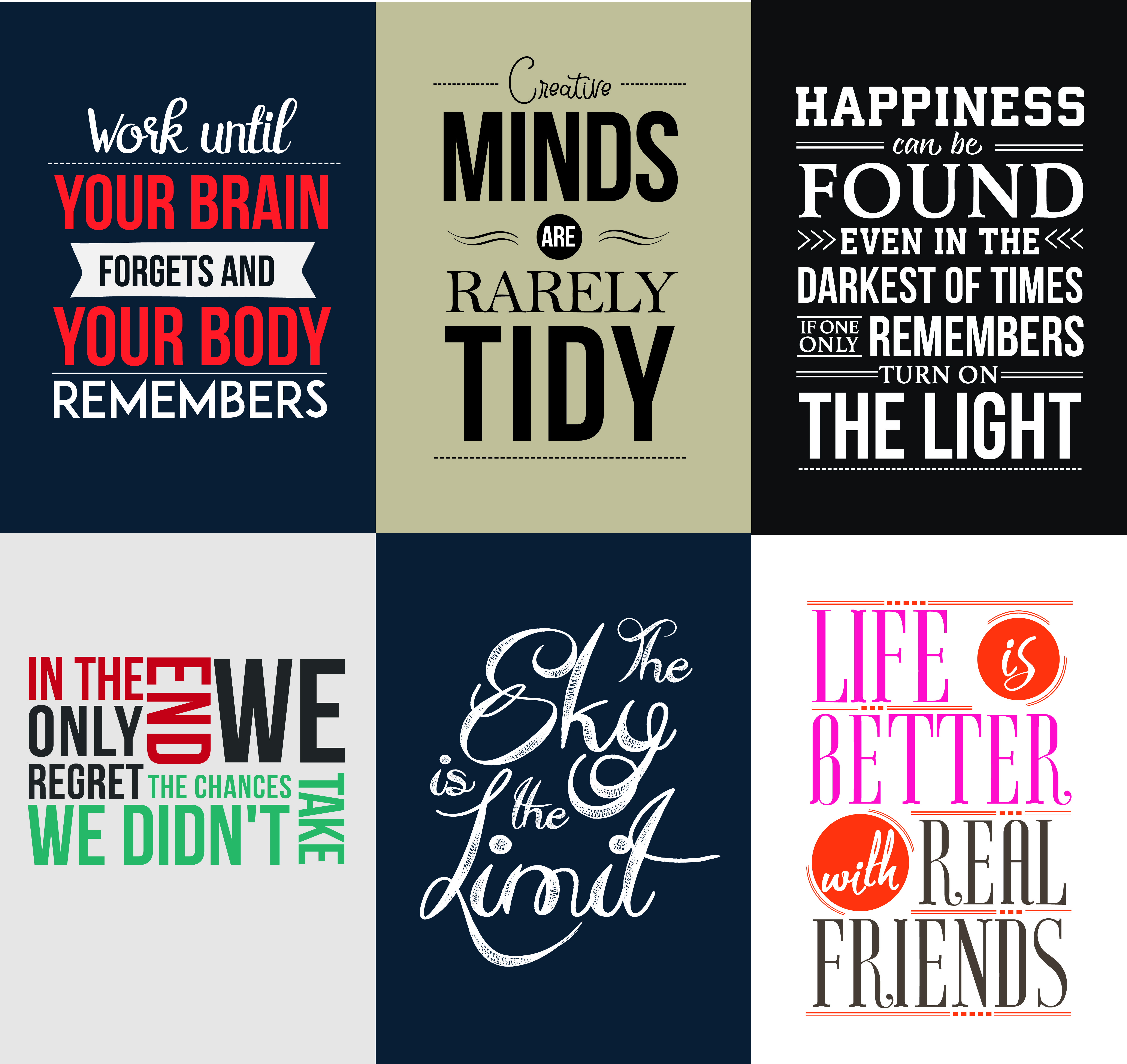 design Typography Inspirational Quotes